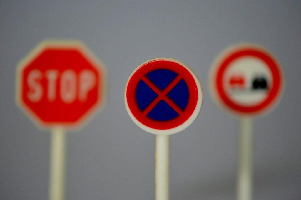 駐停車禁止の道路標識