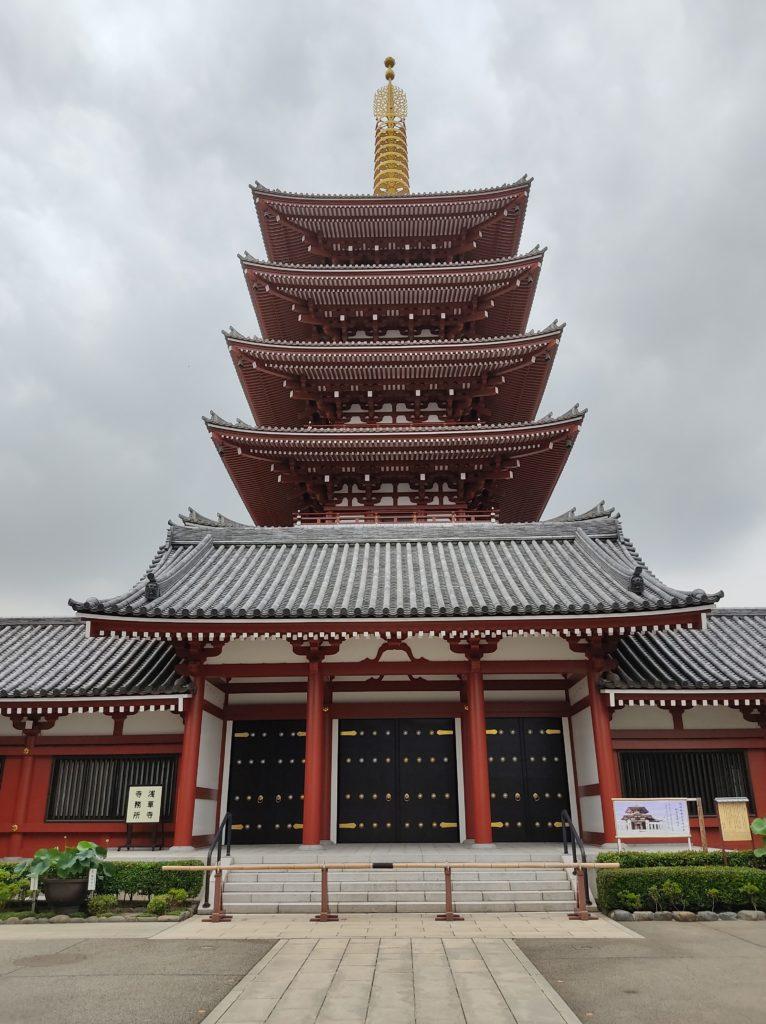 浅草寺五重塔。