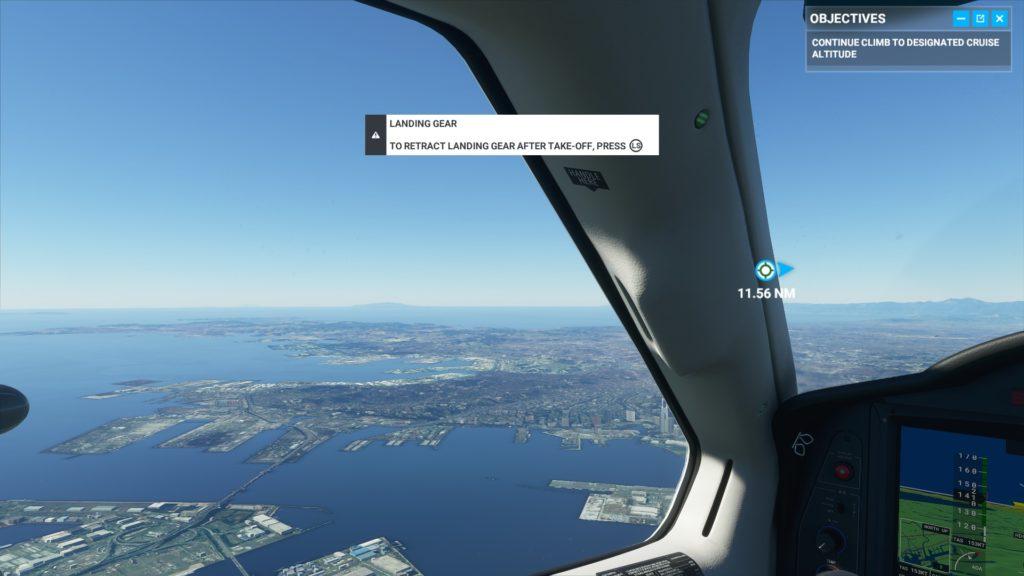 飛行中の窓から見える景色。