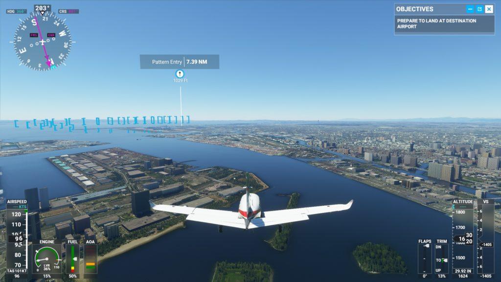 羽田空港の着陸する前。