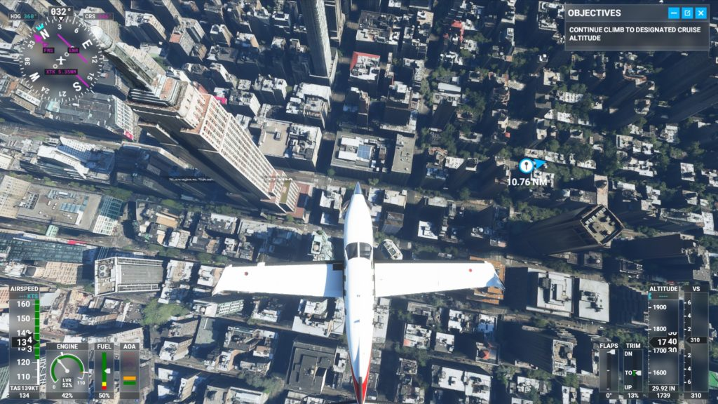 エンパイア・ステート・ビルディング上空。