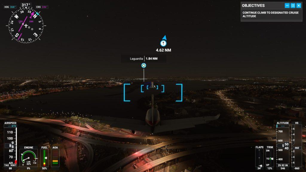ラガーディア空港(KLGA)に着陸するところ。