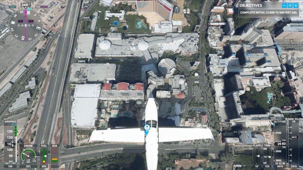 ラスベガス・ストリップ通り上空。
