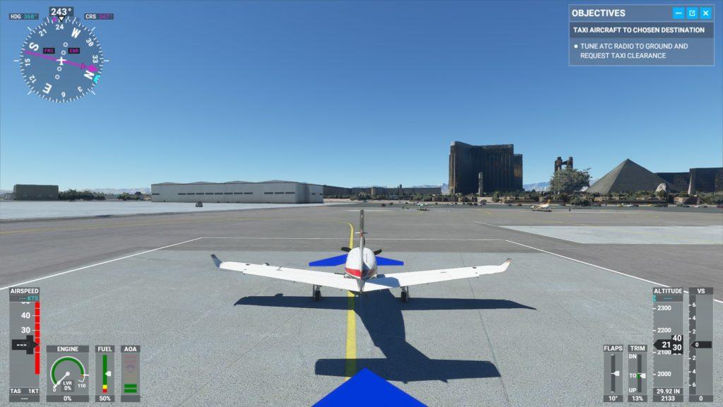 マッカラン国際空港に着陸したところ。