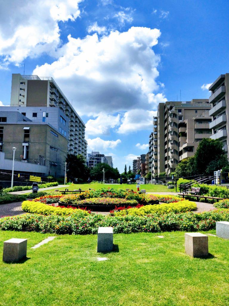 大横川親水公園。