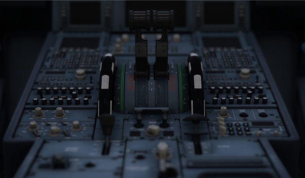 エアバスA320の操縦席。