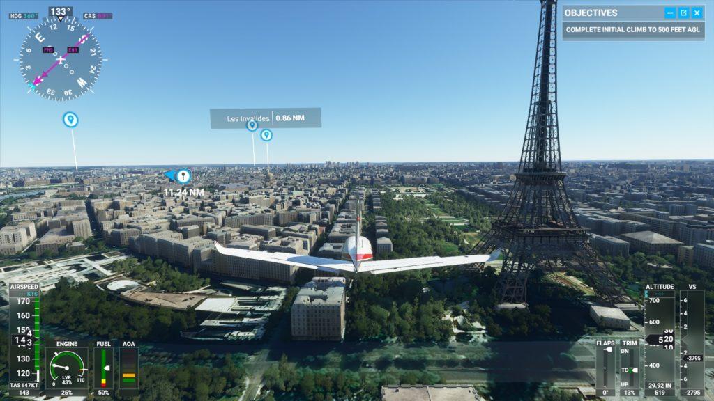 パリのエッフェル塔。