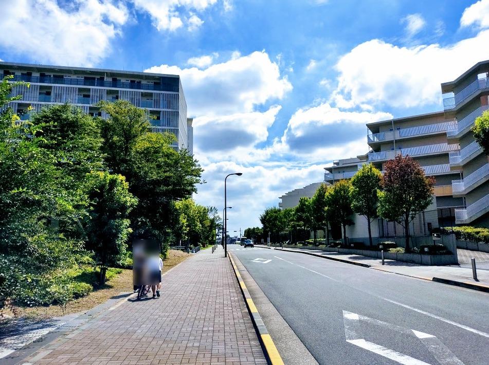 赤羽台周辺の歩道の様子。
