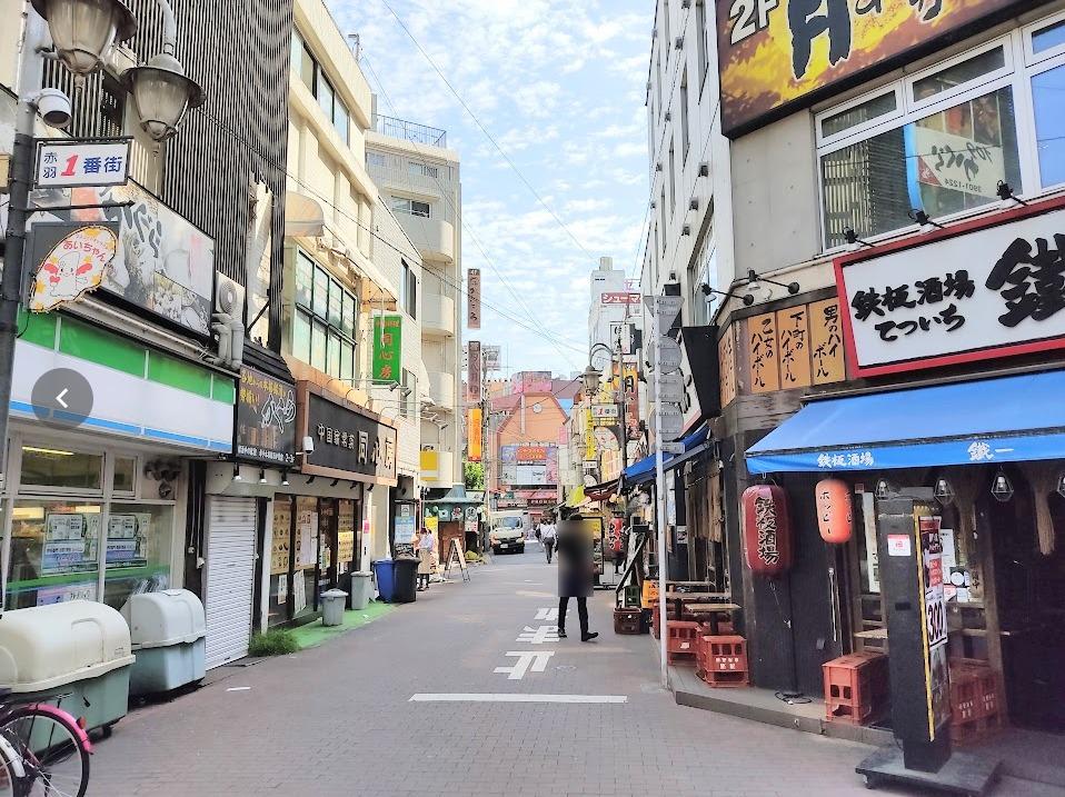 「赤羽一番街商店街」。