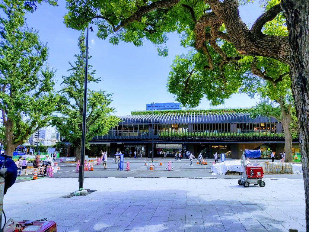 JR上野公園口遠景。