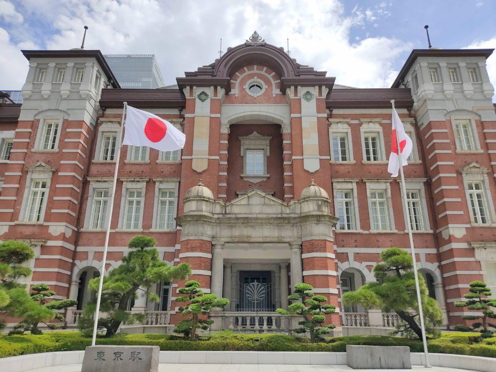 東京駅丸の内駅舎中央部分。