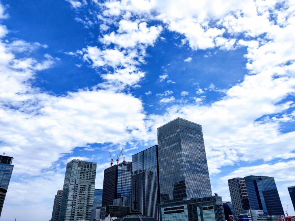東京駅付近の空。