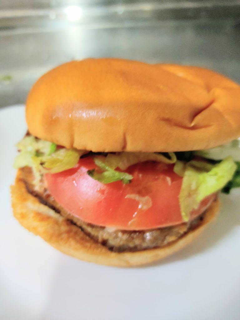 「モス野菜バーガー」の外観。