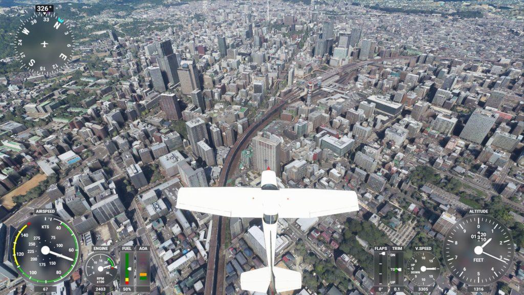 仙台上空。