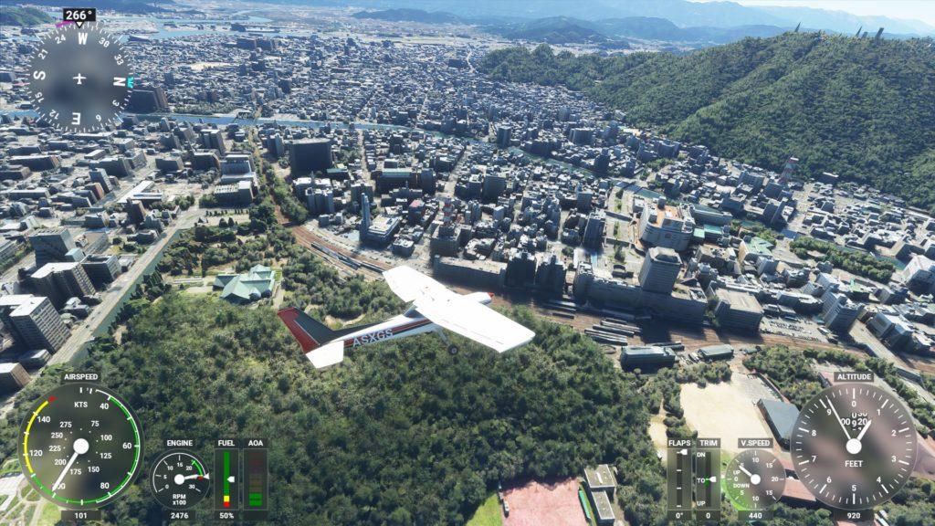 徳島上空。