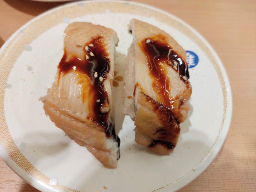 回転寿司「すし銚子丸 雅」の『穴子』。