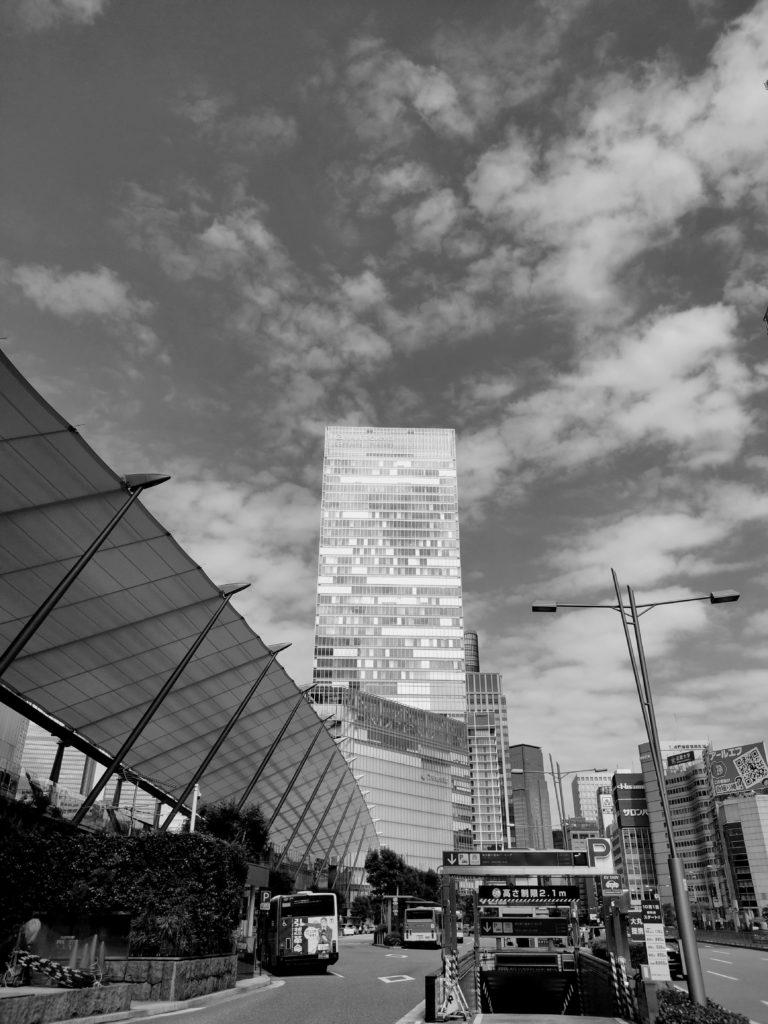 東京駅遠景。