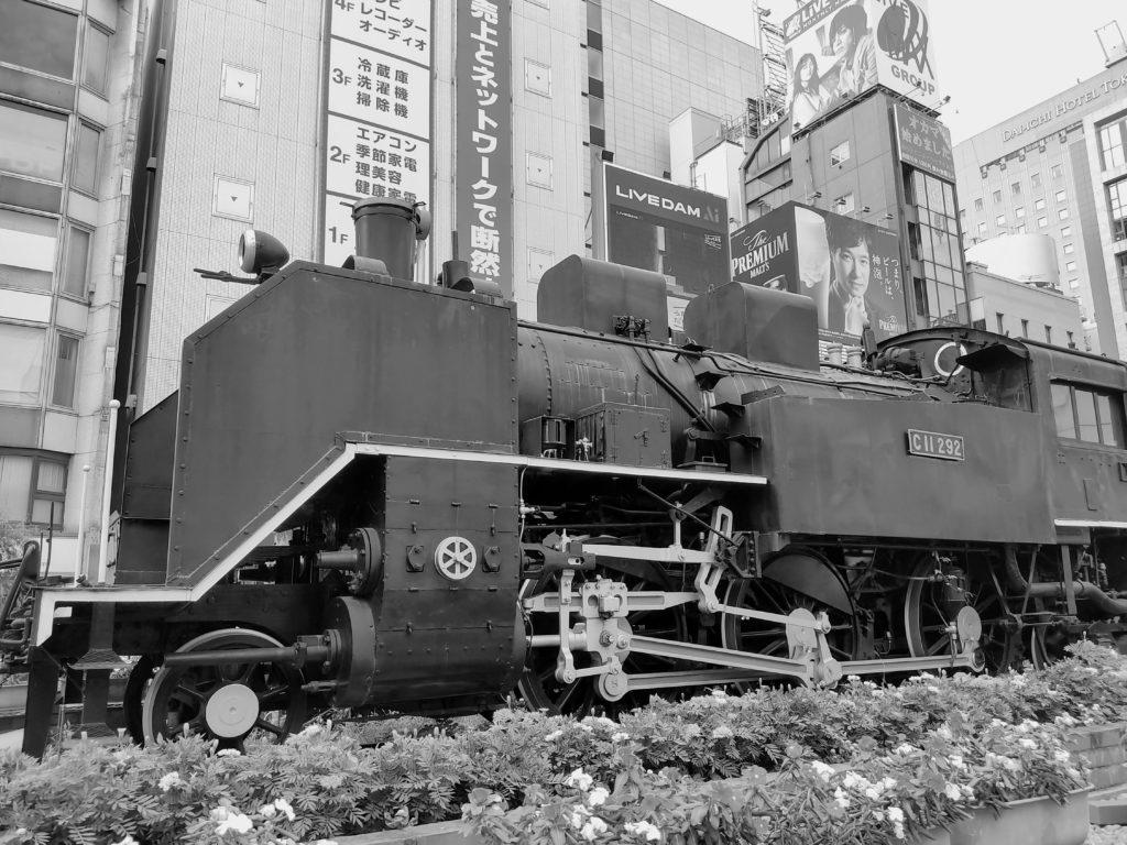 新橋駅前のSL。