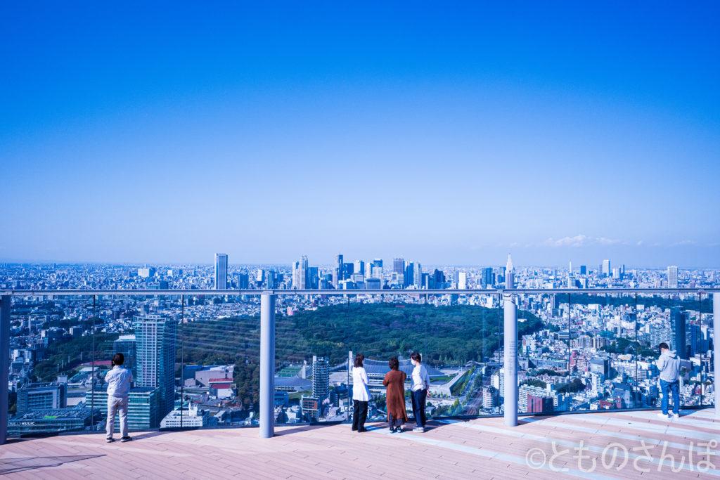 「渋谷スカイ(SIBUYA SKY)」の展望台。