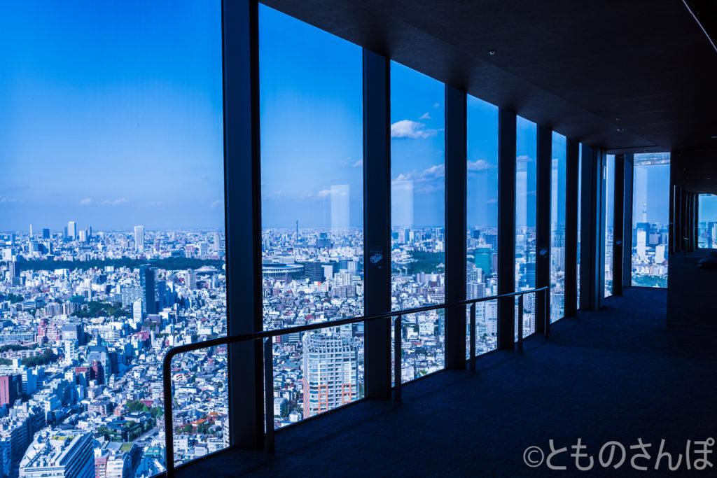 「渋谷スカイ(SIBUYA SKY)」下り途中の回廊。
