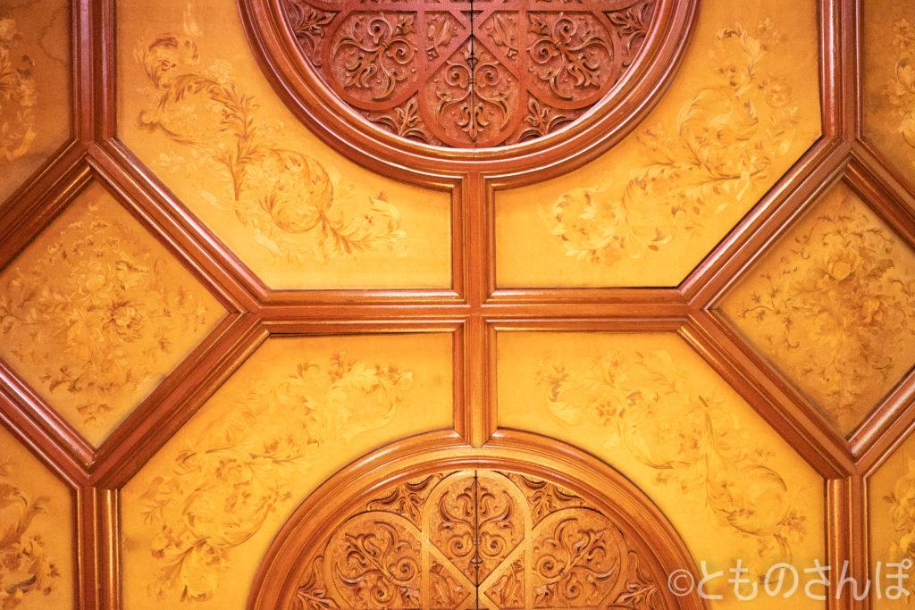 旧岩崎邸・洋館。天井。