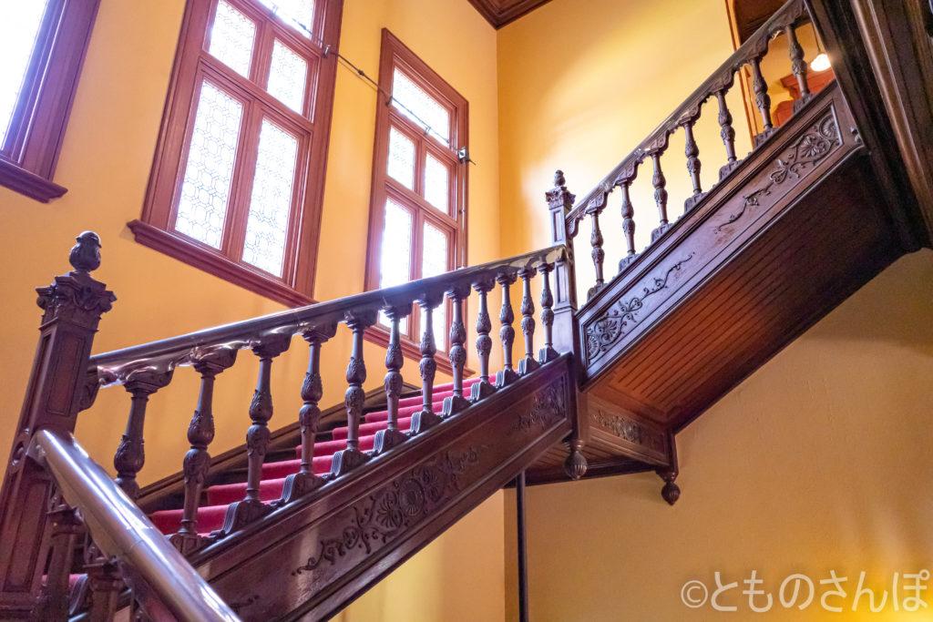 旧岩崎邸・洋館。階段。