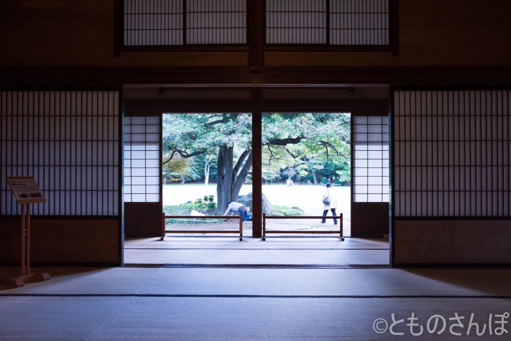 旧岩崎邸・和館。室内の様子。