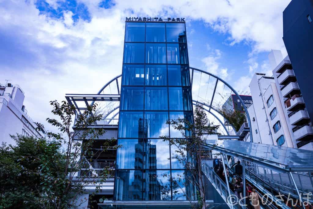 「MIYASHITA PARK」のエレベーター。