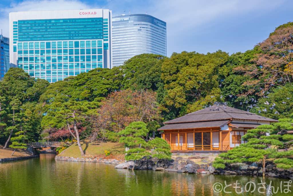 燕の御茶屋とコンラッド東京。