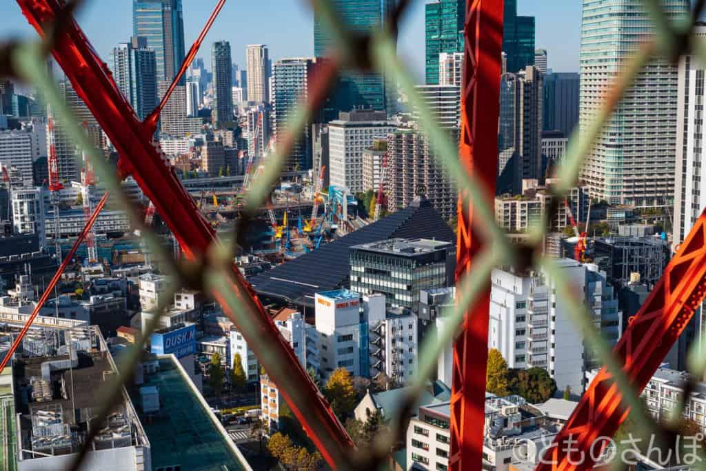 東京タワーの外階段からの景色。