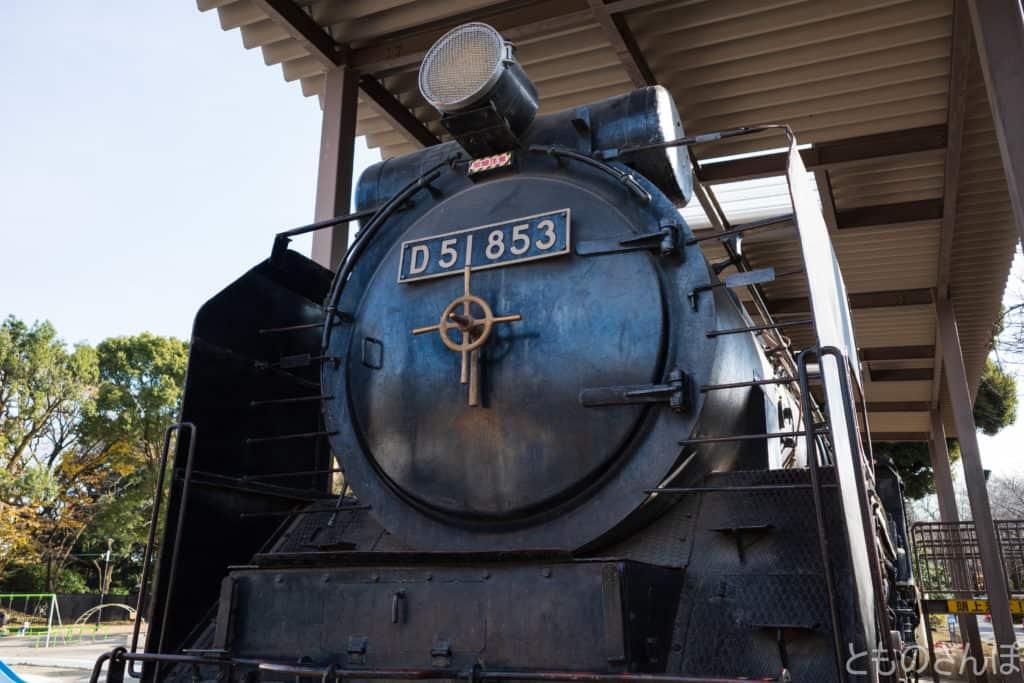 飛鳥山公園のSL、国鉄D51型蒸気機関車