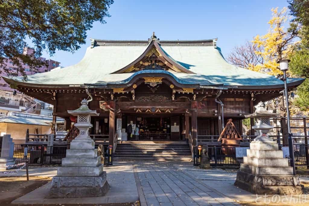 法明寺鬼子母神堂。