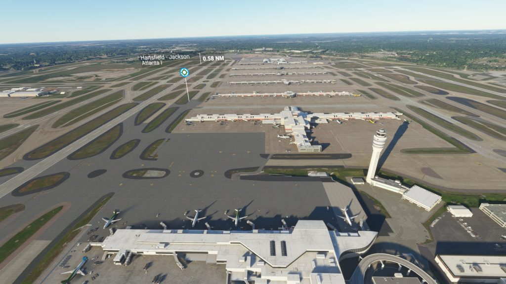 ハーツフィールド・ジャクソン・アトランタ国際空港(ジョージア州)。