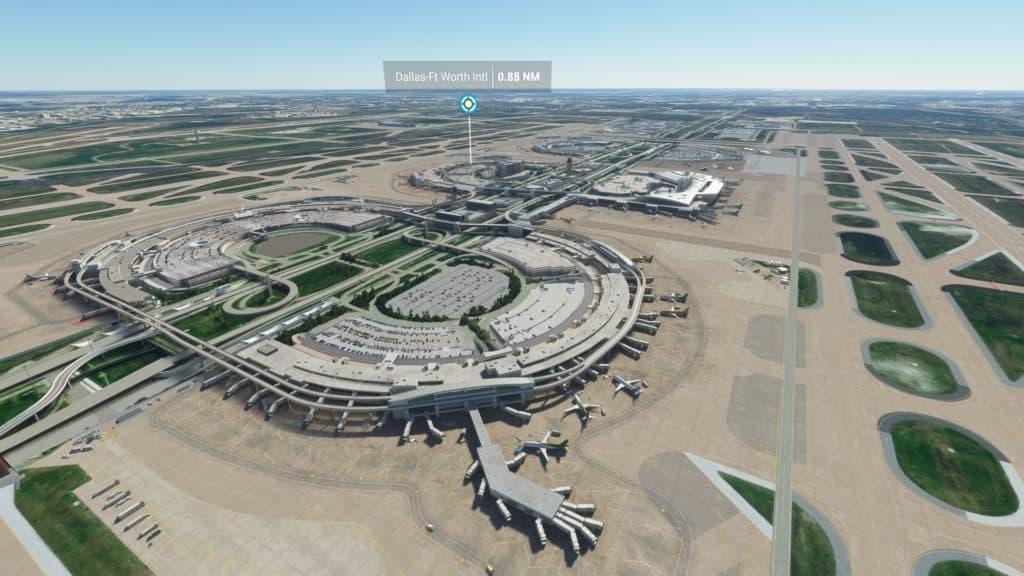 ダラス・フォートワース国際空港(テキサス州)。