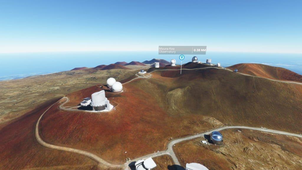 マウナケア天文台群(ハワイ州)。