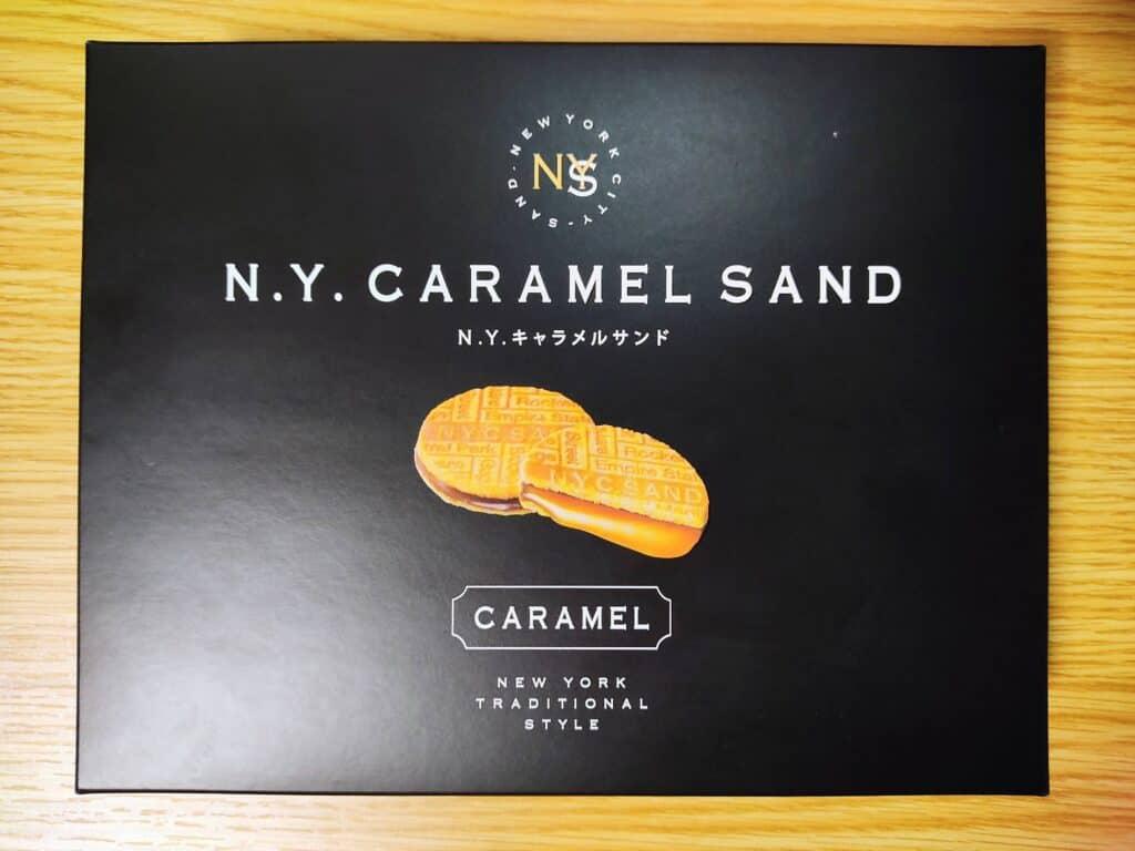 N.Y.キャラメルサンドのパッケージ。