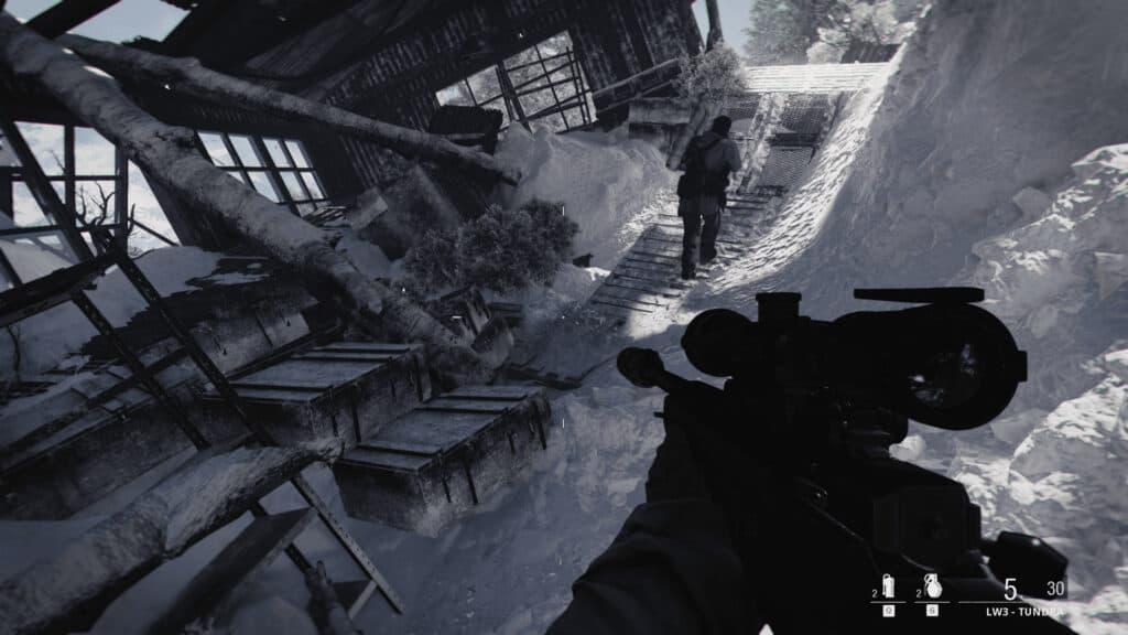「Call of Duty: Black Ops Cold War」の「キャンペーン」プレイ画面
