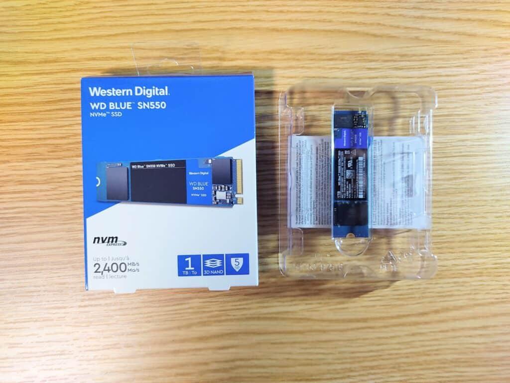Western Digital SSD 1TB WD Blue SN550 PC M.2-2280 NVMe