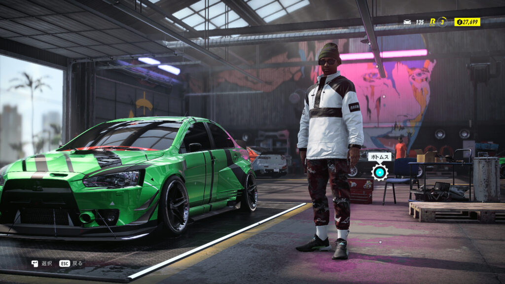 「Need for Speed Heat Deluxe Edition」プレイ画面