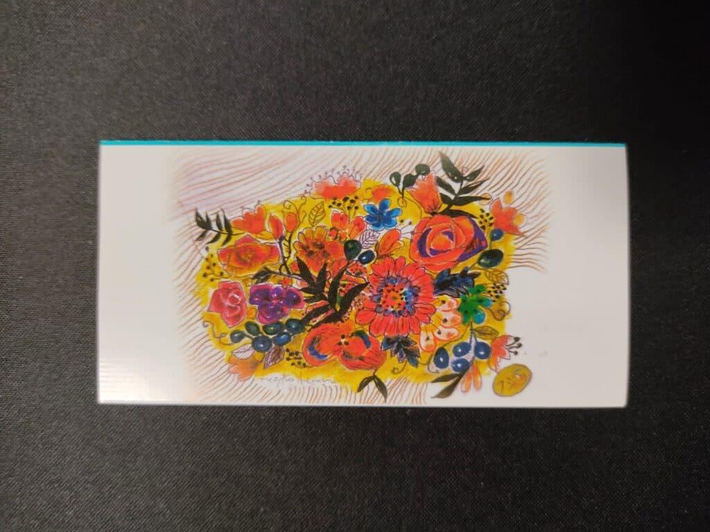フジコ・ヘミングさんが東京カンパネラショコラのために描いた花の絵