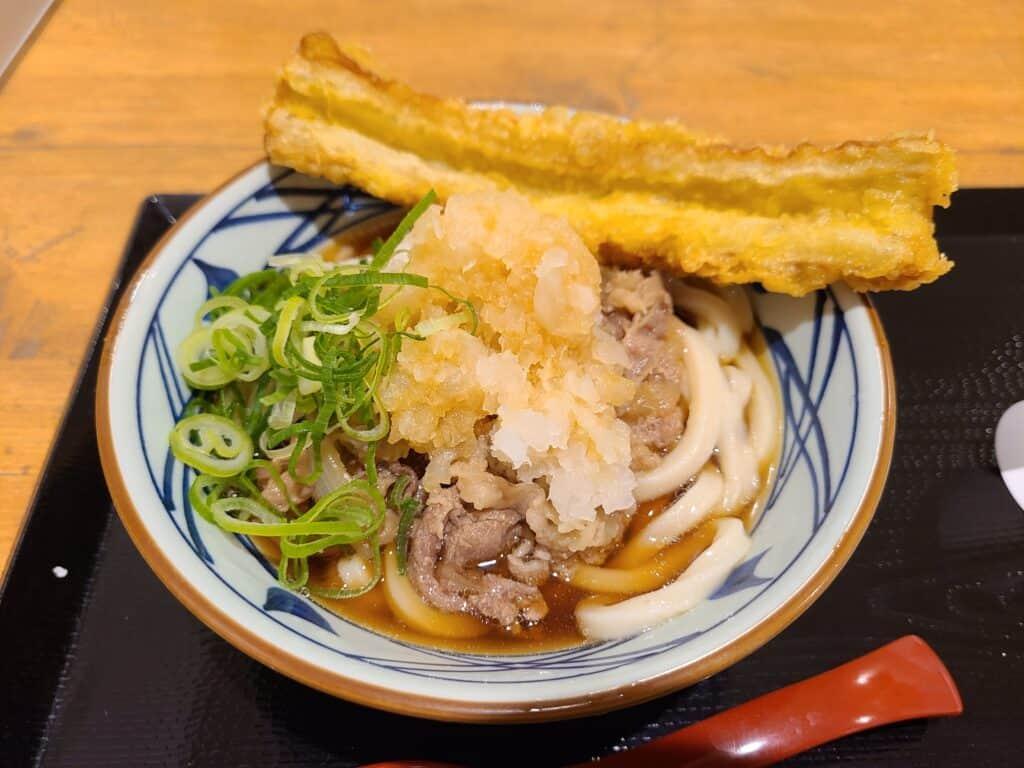 丸亀製麺の「鬼おろし肉ぶっかけ」