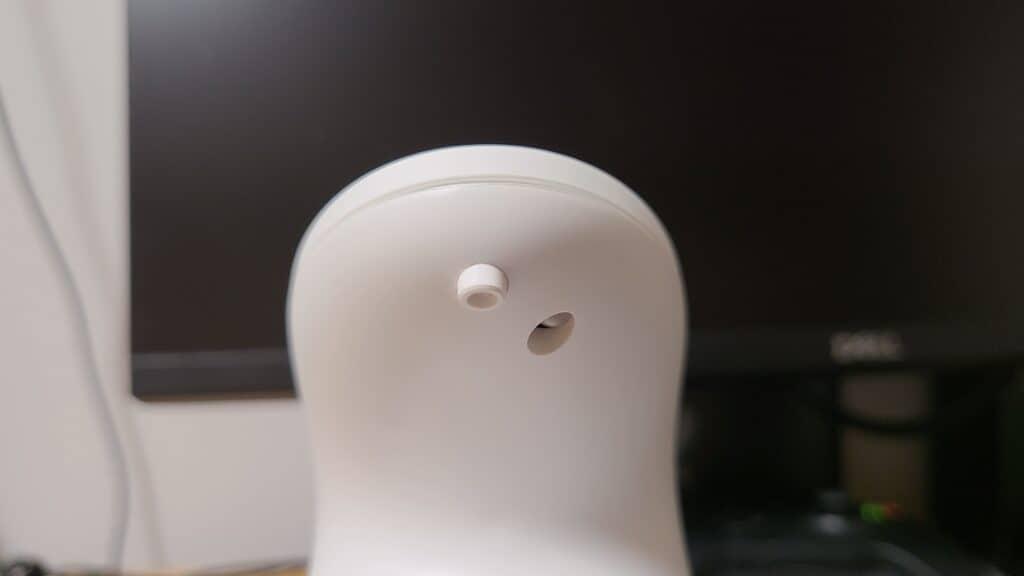 『キレイキレイ薬用泡ハンドソープ専用オートディスペンサー』泡の出る口部分